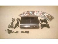 Playstation 3 80Gb + 12 Games, 2 Controllers, Headset, HDMI and USB Cabels,