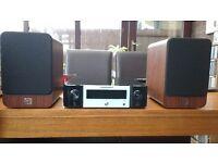 Marantz Mini Hifi Network receiver with Q Acoustic 2010i speakers Marantz model M-CR511
