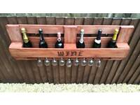 Rustic handmade wine rack. 100% reclaimed wood