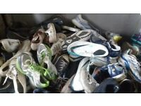 30 pairs of mixed mens and women's trainers