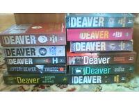 11 Jeffery Deaver paperback novels