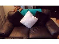 Black 2 setter leather sofa