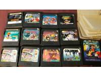 selection of game gear games and cases