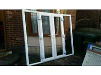 French door with side panel 2350x1980 BRAND NEW with Glass