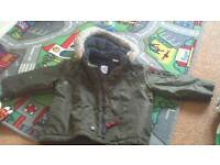 Gap boys winter coat fleece lined size 2 years