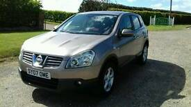 2007 Nissan qashqai 1.6 petrol 4 door 12 months mot free warranty included