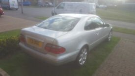Mercedes CLK 230 K Kompressor very reliable, DVD player with front & rear screens