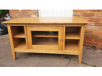 Wooden Corner TV Stand by John Lewis in Good Condition
