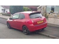 Red Toyota Auris SR 3 door with full leather interior