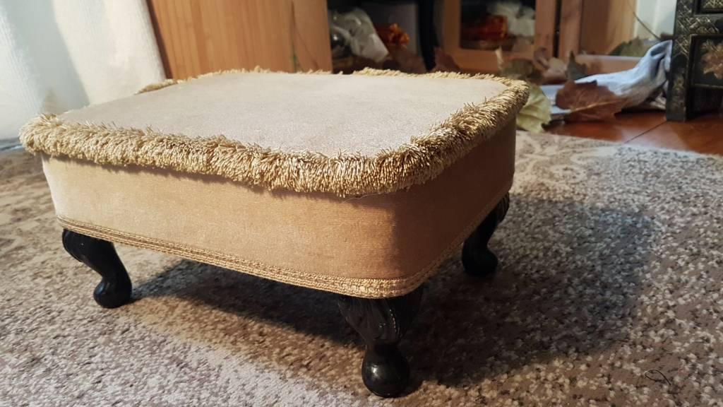 Velvet foot stool