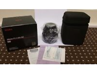 Canon fit 30mm F1.4 Sigma As Brand new condition