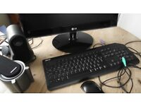 Monitor, Keyboard, Mouse And Speakers For Desktop