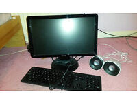 DELL Computer monitor, keyboard and speakers