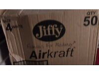 White JIFFY AIRKRAFT Bubble Lined Mailing Bags size 4w