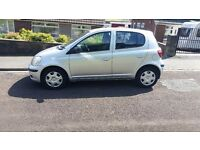 Toyota yaris, silver, very good condition inside and out