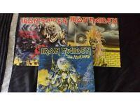 3 iron maiden vinyl albums
