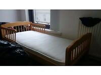 Kid wooden cot and mattress *** Very good condition ***