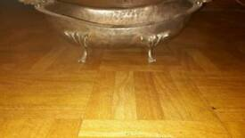 Fruit bowl brass with silver colour coating