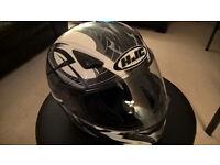 HJC Full Face Crash Helmet CS-14 White Grey Silver Size XL