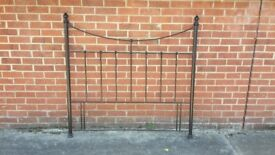 Metal double headboard ( Black)