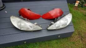 Headlamps an tail lights
