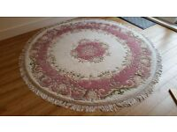 Round Rug (Wool, Dia 6ft, Aubusson, Indian)