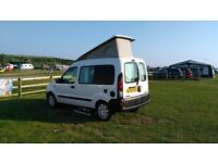 JC leisure Reanult Kangoo Campervan 2 berth elevating roof. Gas hob sink porta loo leisure battery