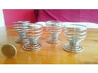 4 cute spiral egg cups
