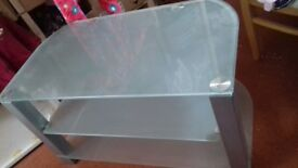 Sturdy Glass TV stand unit for sale, excellent condition