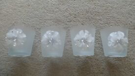 24 X FROSTED VOTIVE HOLDERS BY LANDON TYLER SUITABLE FOR WEDDINGS - BNIP
