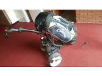 Motocaddy , charger and bag for sale , battery work's but is on it's way out , good condition