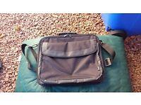Black laptop bag.