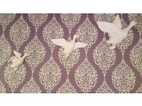 3 Baby Pink Ceramic Wall Hanging Flying Geese
