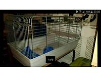 Large rabbit/guinea pig indoor cage with separate stand on caster wheels