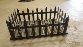 Wrought iron log box
