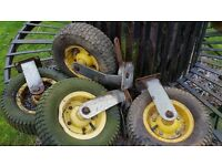4 X Heavy Duty Garden Wheels