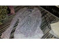 Mens John Lewis Designer Collection Pink/Purple floral shirt size XXL