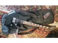 Guitar and amp package, Mustang iv amp, Jackson guitar, Stratocaster replica guitar, mxr foot pedal