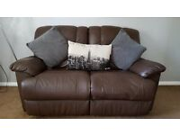 2 x 2 seater leather recliner settees