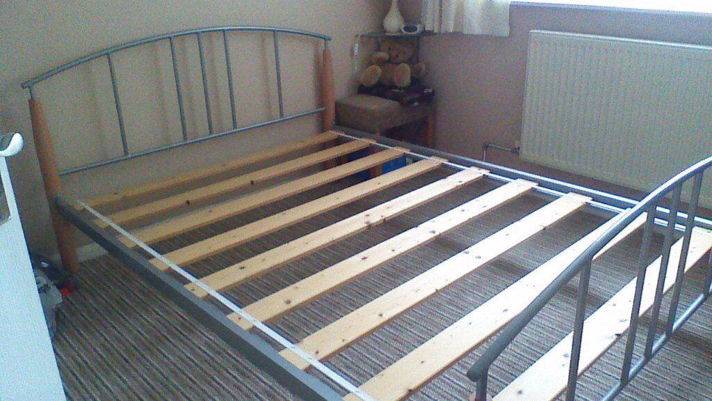 metal bed frame 4ft-6in