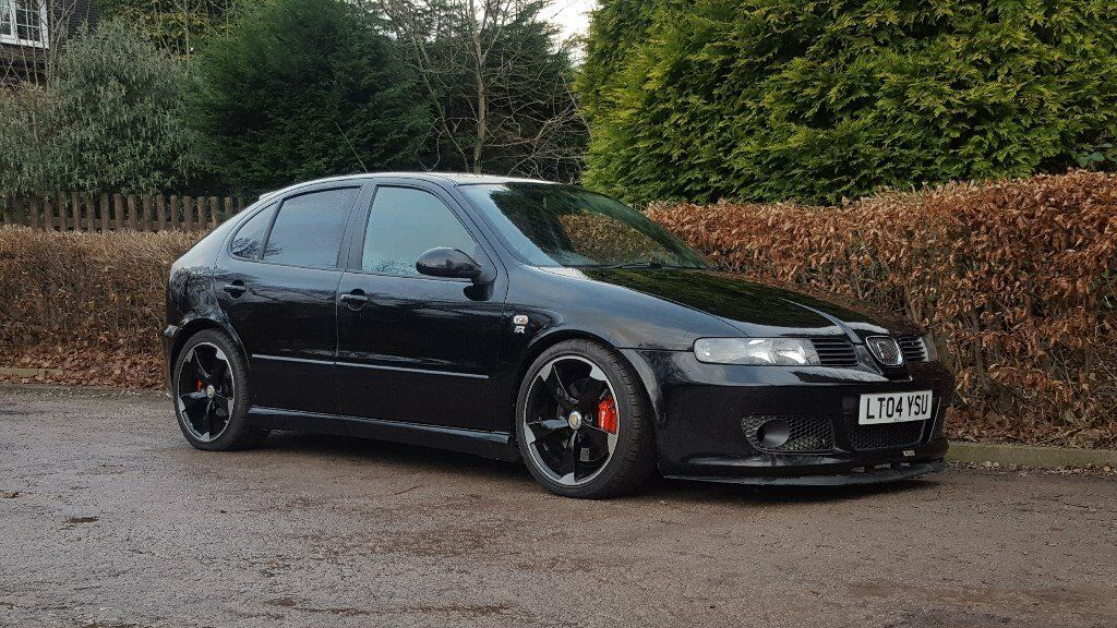 2004 seat leon cupra r black 1 8 turbo 225 bhp bam full black leather interior bargain in. Black Bedroom Furniture Sets. Home Design Ideas