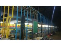 INDUSTRIAL HEAVY DUTY METAL LARGE RACKING 7 BAYS .... CLOSING DOWN