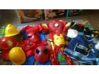 Spiderman and iron men suits
