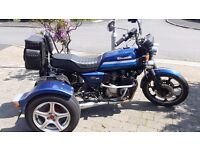 Trike Kawasaki GT550 for sale - new MOT, cheap to insure, only 1899 pounds