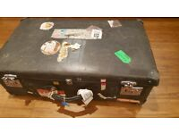 VINTAGE GLOBETROTTER suitcase in grey