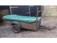 6x4 metal bottom trailer