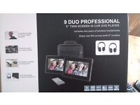 "DUO 9""PROFESSIONAL TWIN IN CAR DVD PLAYERS"