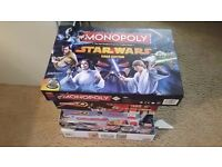 6 EXCELLENT CONDITION BOARD GAMES INCLUDING STAR WARS MONOPOLY
