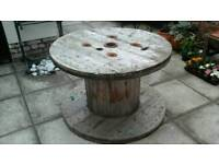 Large Wooden Cable Reel For Upcycling Maybe?