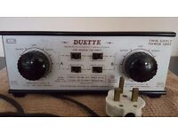 "Hammant & Morgan H&M ""Duette"" Twin Supply Power Unit - For Model Railways"